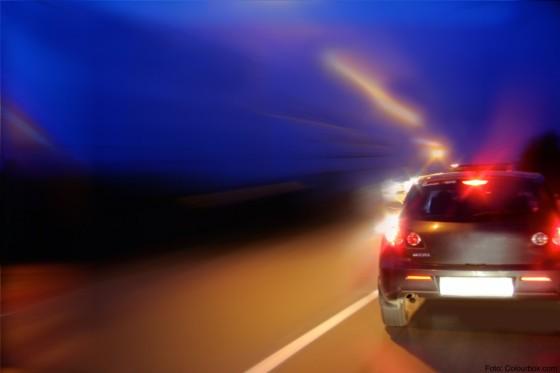 speed motion car on street