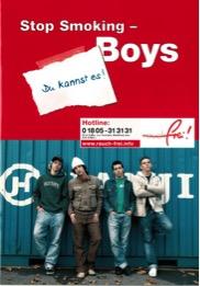 """Titelbild der Broschüre """"Stop Smoking – Boys"""" (5. Aufl.) (2011)"""