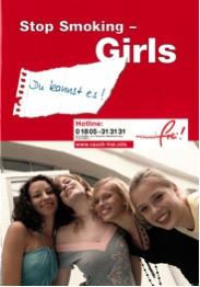 """Titelblatt der Broschüre """"Stop Smoking – Girls"""" (6. Aufl.) (2011)"""